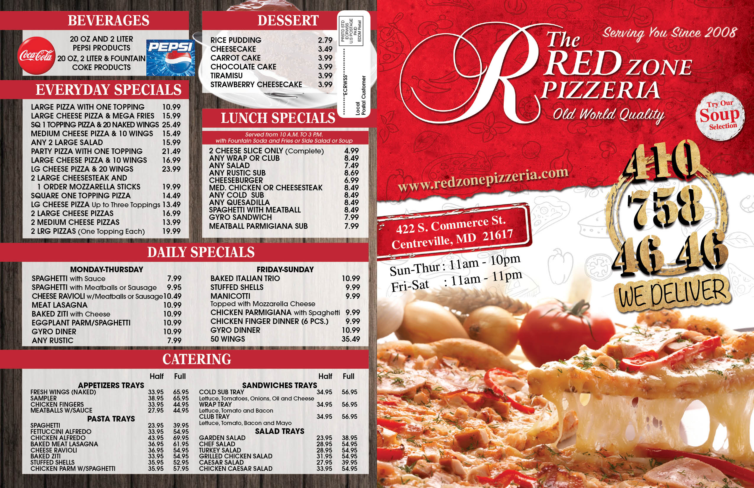 red pizza flyer - Dean.routechoice.co